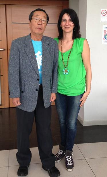 Krisztina Nemeth con Masaru Emoto