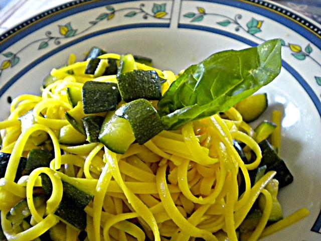 Bavette con Zucchine e Zafferano