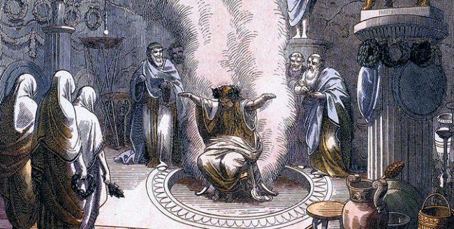 La Pizia, Oracolo di Delfi